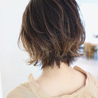 ハイライト グラデーションカラー 外国人風カラー バレイヤージュ ヘアスタイルや髪型の写真・画像