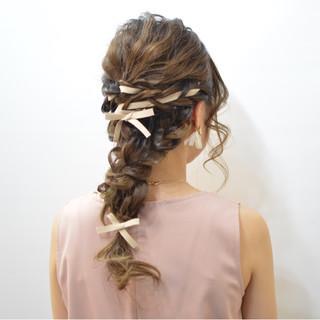 ヘアアレンジ 三つ編み ゆるふわ 大人かわいい ヘアスタイルや髪型の写真・画像 ヘアスタイルや髪型の写真・画像