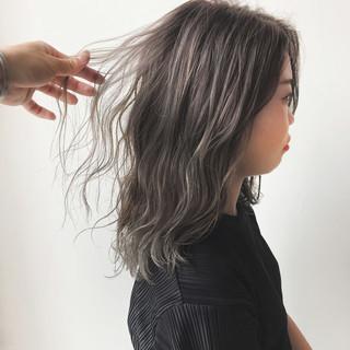 ナチュラル ヘアアレンジ 暗髪 ハイライト ヘアスタイルや髪型の写真・画像