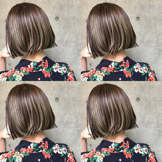 切りっぱなしボブ ショートボブ ショートヘア モード ヘアスタイルや髪型の写真・画像
