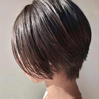 簡単 前下がり 黒髪 ボブ ヘアスタイルや髪型の写真・画像