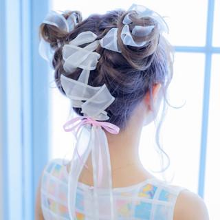 ガーリー ヘアアレンジ かわいい ゆるふわ ヘアスタイルや髪型の写真・画像 ヘアスタイルや髪型の写真・画像