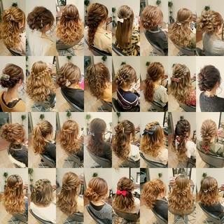 セミロング フェミニン ポニーテール ヘアアレンジ ヘアスタイルや髪型の写真・画像