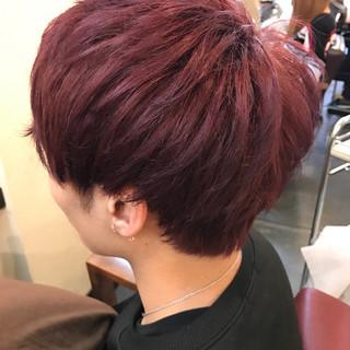 ストリート アッシュバイオレット レッド ピンク ヘアスタイルや髪型の写真・画像