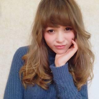 外国人風カラー モテ髪 ハイトーン セミロング ヘアスタイルや髪型の写真・画像 ヘアスタイルや髪型の写真・画像