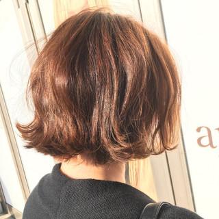 パーマ ボブ 大人女子 春 ヘアスタイルや髪型の写真・画像