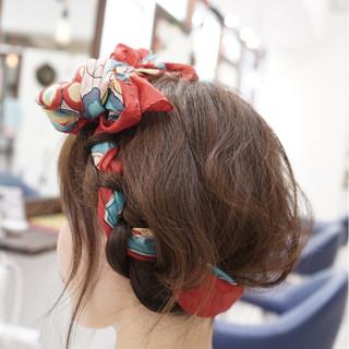 ショート セミロング ゆるふわ フェミニン ヘアスタイルや髪型の写真・画像