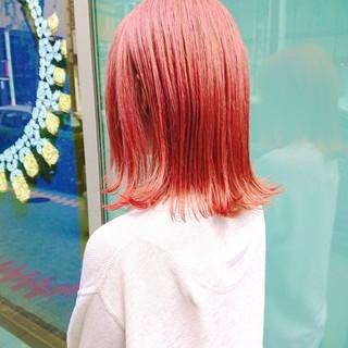 ブリーチカラー ピンク 銀座美容室 TOKIOトリートメント ヘアスタイルや髪型の写真・画像