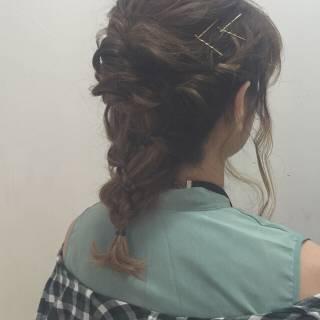 愛され 三つ編み ガーリー モテ髪 ヘアスタイルや髪型の写真・画像
