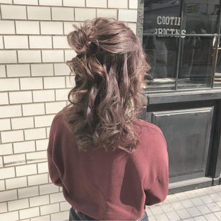 ヘアアレンジ お団子 セミロング 簡単ヘアアレンジ ヘアスタイルや髪型の写真・画像 ヘアスタイルや髪型の写真・画像