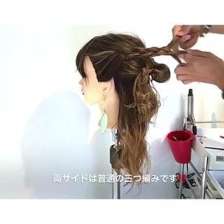 エレガント ロング ヘアアレンジ デート ヘアスタイルや髪型の写真・画像