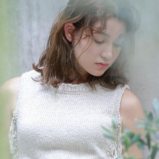 ミディアム リラックス 女子会 ヘアアレンジ ヘアスタイルや髪型の写真・画像