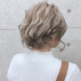 フェミニン ヘアセット ヘアアレンジ ボブ ヘアスタイルや髪型の写真・画像