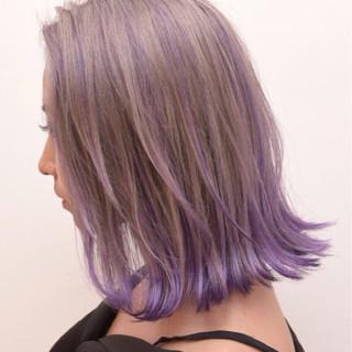 色気 ロブ スポーツ アウトドア ヘアスタイルや髪型の写真・画像