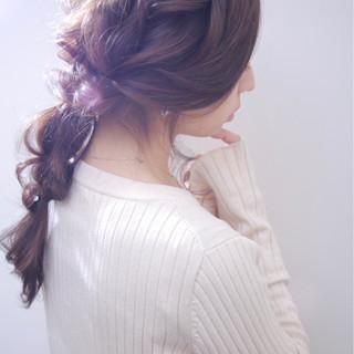 結婚式 ナチュラル ロング 外国人風カラー ヘアスタイルや髪型の写真・画像