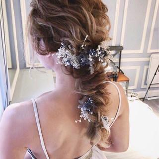 ヘアアレンジ 女子力 ゆるふわ 結婚式 ヘアスタイルや髪型の写真・画像