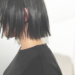 黒髪 モード 外国人風 ボブ ヘアスタイルや髪型の写真・画像