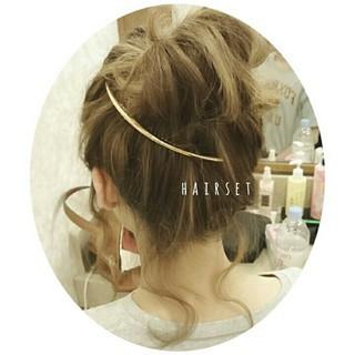 夏 ヘアアレンジ セミロング ゆるふわ ヘアスタイルや髪型の写真・画像 ヘアスタイルや髪型の写真・画像