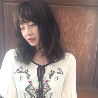 ガーリー 暗髪 透明感 大人かわいい ヘアスタイルや髪型の写真・画像