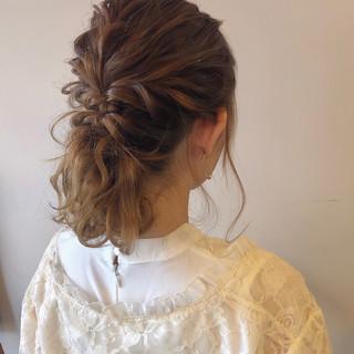 ふわふわヘアアレンジ ガーリー ヘアアレンジ ゆるふわセット ヘアスタイルや髪型の写真・画像
