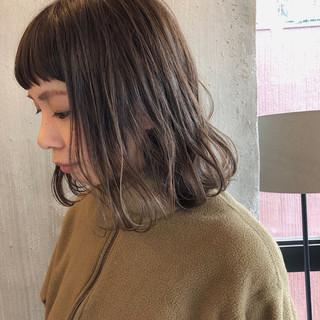 女子力 外国人風カラー 暗髪 くすみカラー ヘアスタイルや髪型の写真・画像