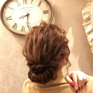 パーマ ヘアアレンジ アッシュ セミロング ヘアスタイルや髪型の写真・画像