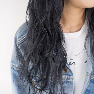 ダブルカラー セミロング ストリート 外国人風カラー ヘアスタイルや髪型の写真・画像