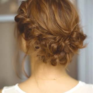 フェミニン ゆるふわ アップスタイル 卵型 ヘアスタイルや髪型の写真・画像