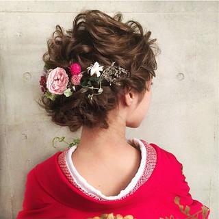 エレガント ヘアアレンジ 上品 パーティ ヘアスタイルや髪型の写真・画像