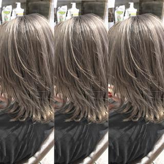 色気 斜め前髪 ナチュラル 外国人風 ヘアスタイルや髪型の写真・画像