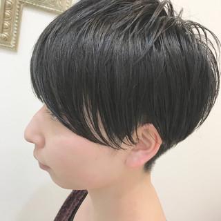 黒髪 ナチュラル ショート 爽やか ヘアスタイルや髪型の写真・画像