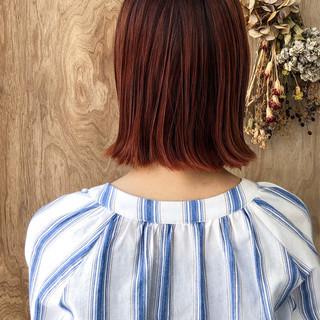 ブリーチ ストリート ダブルカラー ボブ ヘアスタイルや髪型の写真・画像