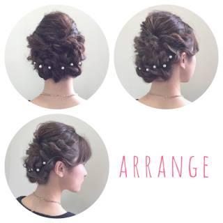 編み込み モテ髪 ツイスト ヘアアレンジ ヘアスタイルや髪型の写真・画像