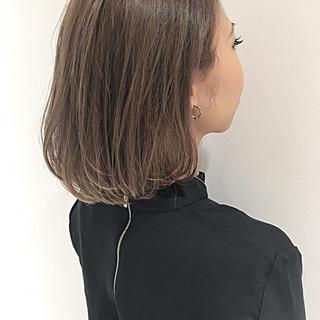 ハイライト 外国人風 ボブ 暗髪 ヘアスタイルや髪型の写真・画像