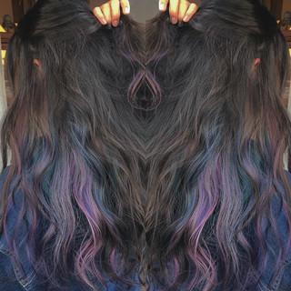 ストリート 外国人風カラー 女子力 ウェーブ ヘアスタイルや髪型の写真・画像