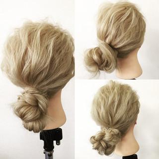 ローポニーテール ショート 外国人風 簡単ヘアアレンジ ヘアスタイルや髪型の写真・画像 ヘアスタイルや髪型の写真・画像