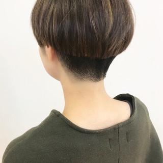 切りっぱなしボブ ショート ショートボブ ミニボブ ヘアスタイルや髪型の写真・画像