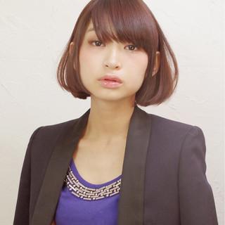 ワンレングス モード ショート 大人女子 ヘアスタイルや髪型の写真・画像