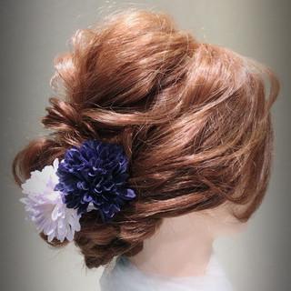 ロング フェミニン 袴 謝恩会 ヘアスタイルや髪型の写真・画像