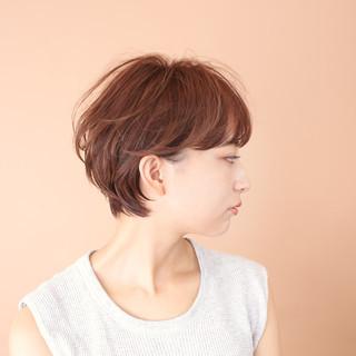 ショートボブ ショート 前髪あり ゆるふわ ヘアスタイルや髪型の写真・画像