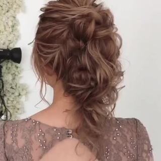 エレガント 大人かわいい 結婚式 上品 ヘアスタイルや髪型の写真・画像