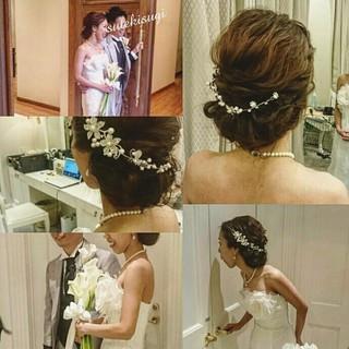 ロング ゆるふわ ドレス 大人かわいい ヘアスタイルや髪型の写真・画像