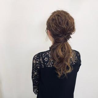 エレガント ヘアアレンジ ロング デート ヘアスタイルや髪型の写真・画像