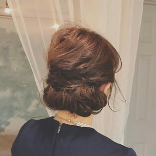 ロング 上品 冬 結婚式 ヘアスタイルや髪型の写真・画像