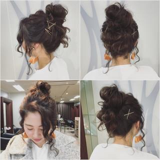 ショート ゆるふわ ヘアアレンジ 外国人風 ヘアスタイルや髪型の写真・画像