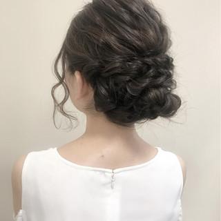 大人かわいい ヘアアレンジ フェミニン 結婚式 ヘアスタイルや髪型の写真・画像