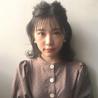 簡単ヘアアレンジ 透明感 女子力 ボブ ヘアスタイルや髪型の写真・画像 ヘアスタイルや髪型の写真・画像