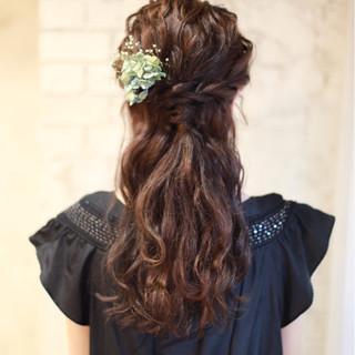 パーティ ロング フェミニン ゆるふわ ヘアスタイルや髪型の写真・画像
