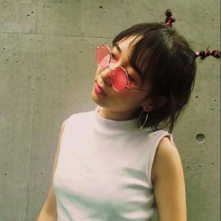 外ハネ 外国人風 ガーリー ヘアアレンジ ヘアスタイルや髪型の写真・画像
