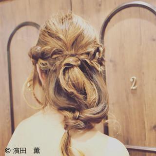 ヘアアレンジ ロング フェミニン パーティ ヘアスタイルや髪型の写真・画像